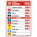 Tabliczki telefonów alarmowych (DA)