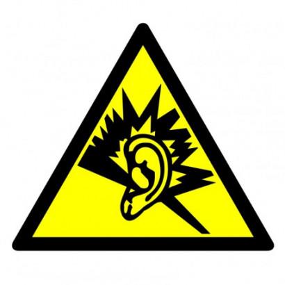Ostrzeżenie przed silnym hałasem