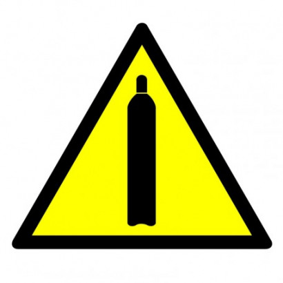 Ostrzeżenie - butle z gazem