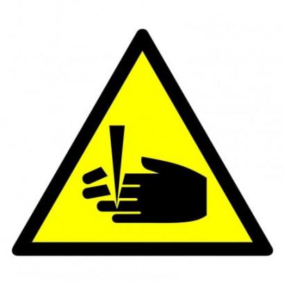 Ostrzeżenie przed niebezpieczeństwem obcięcia palców