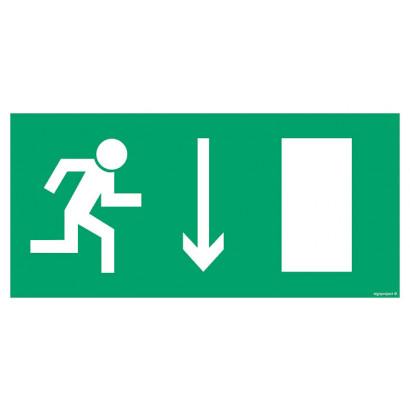 Kierunek do wyjścia drogi ewakuacyjnej dla niepełnosprawnych w lewo