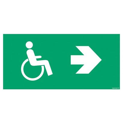 Znak podklamkowy (klamka otwierana w prawo)