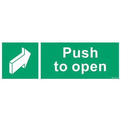 Znak podklamkowy (klamka otwierana w lewo)