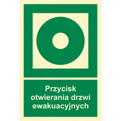 Znak - Przycisk otwierania drzwi ewakuacyjnych AC104