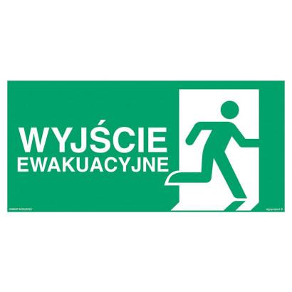 Wyjście ewakuacyjne prawostronne