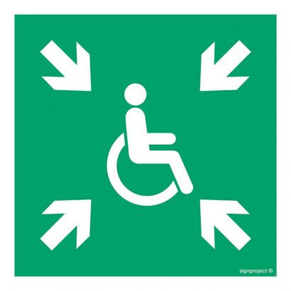 Miejsce zbiórki do ewakuacji dla osób niepełnosprawnych