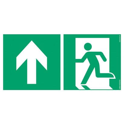 Kierunek do wyjścia ewakuacyjnego - w górę lewostronny