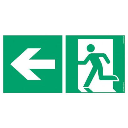 Kierunek do wyjścia ewakuacyjnego w lewo
