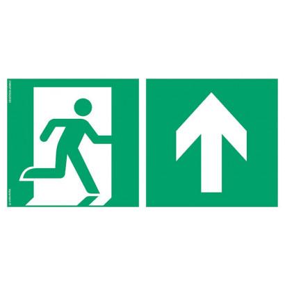 Kierunek do wyjścia ewakuacyjnego w górę prawostronny