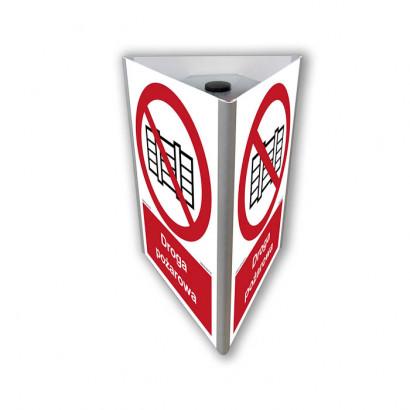 Nie zastawiać - droga pożarowa  (3D do słupka)