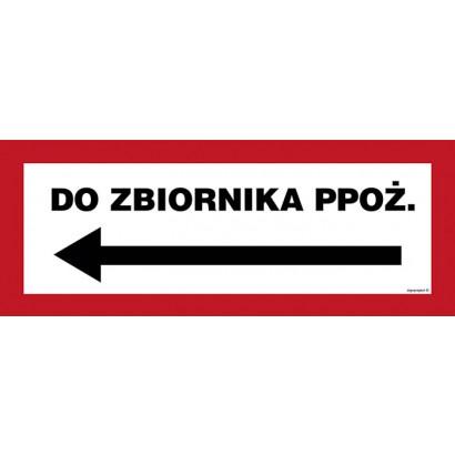 Do zbiornika ppoż. w lewo