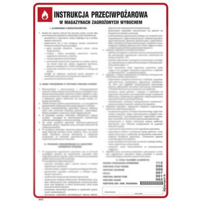 Instrukcja przeciwpożarowa w magazynach zagrożonych wybuchem