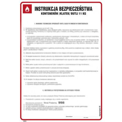 Instrukcja bezpieczeństwa kontenerów (klatek) butli 11 kg