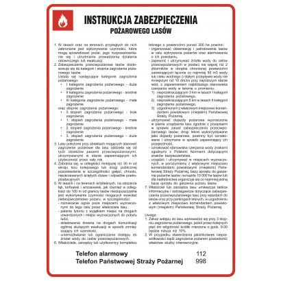 Instrukcja zabezpieczenia przeciwpożarowego lasów