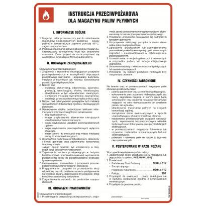 Instrukcja przeciwpożarowa dla magazynu paliw płynnych