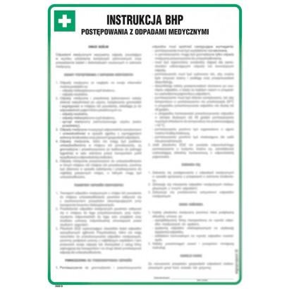 Instrukcja BHP postępowania z odpadami medycznymi
