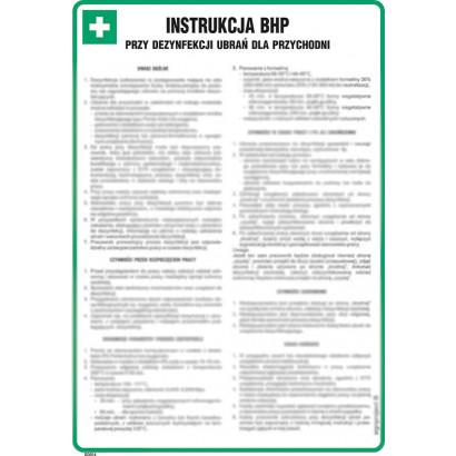 Instrukcja BHP przy dezynfekcji ubrań dla przychodni