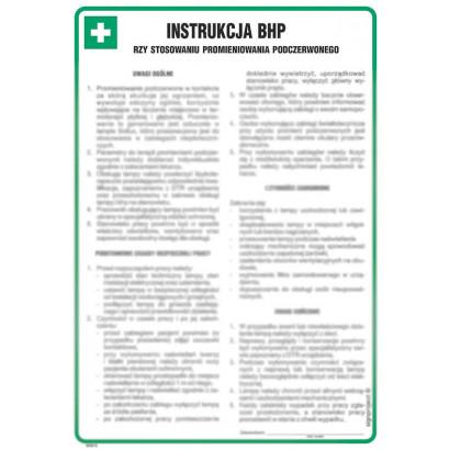 Instrukcja BHP przy stosowaniu promieniowania podczerwonego