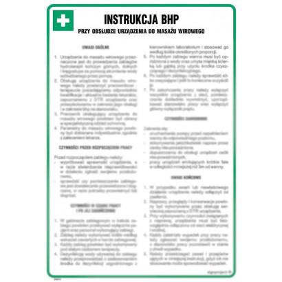 Instrukcja BHP przy obsłudze urządzenia do masażu wirowego