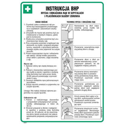 Instrukcja BHP mycia i odkażania rąk w szpitalach i placówkach służby zdrowia
