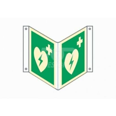 Defibrylator (AED) (3D naścienny gięty)