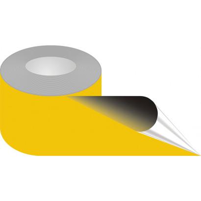 Taśma samoprzylepna żółta, podłogowa