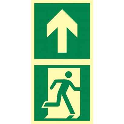 Kierunek do drzwi ewakuacyjnych w górę