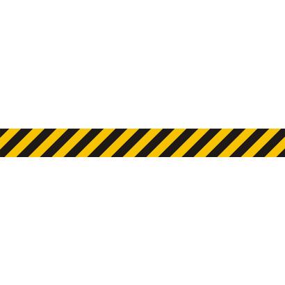 Pas ostrzegawczy żółto-czarny