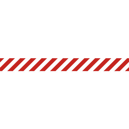 Pas ostrzegawczy biało-czerwony