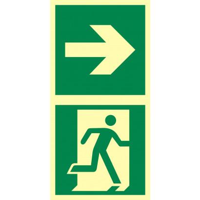 Kierunek do drzwi ewakuacyjnych w prawo