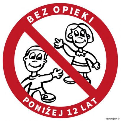 Zakaz pozostawiania bez opieki dzieci poniżej 12 lat