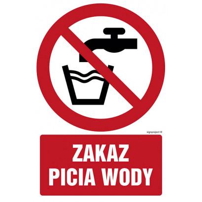 Zakaz picia wody