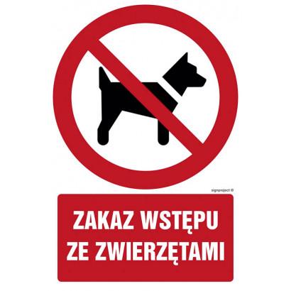 Zakaz wstępu ze zwierzętami