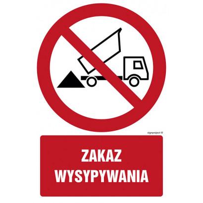 Zakaz wysypywania