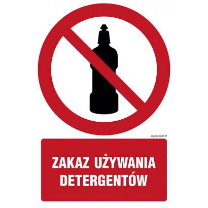 Zakaz używania detergentów