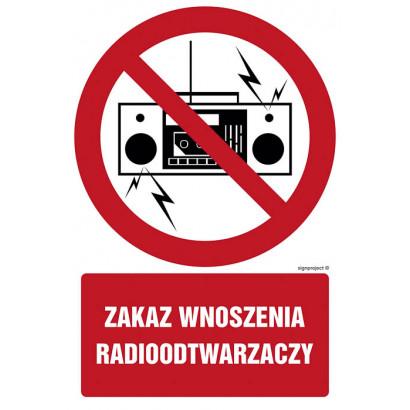 Zakaz wnoszenia radioodtwarzaczy