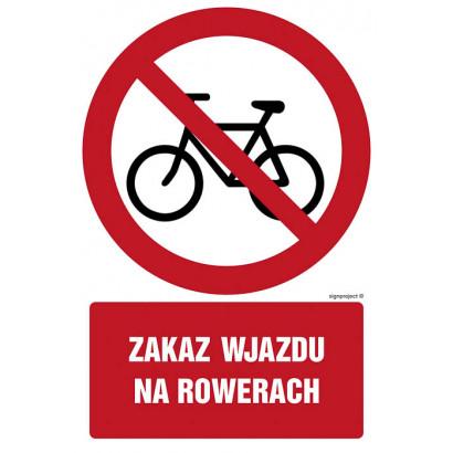 Znak - Zakaz wjazdu na rowerze GC065