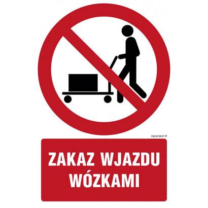 Zakaz wjazdu wózkami