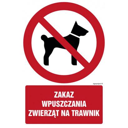 Zakaz wpuszczania zwierząt na trawnik