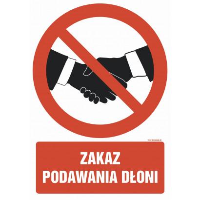 Zakaz podawania dłoni