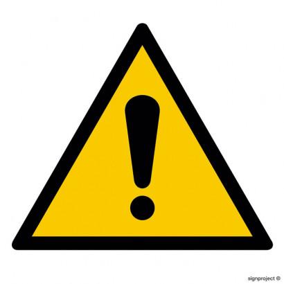 Ogólny znak ostrzegawczy (ostrzeżenie, ryzyko niebezpieczeństwa)