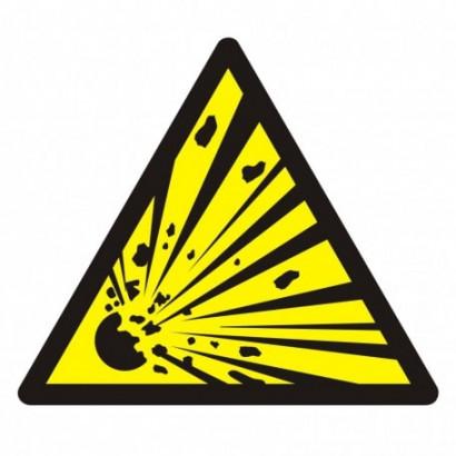 Ostrzeżenie przed niebezpieczeństwem wybuchu