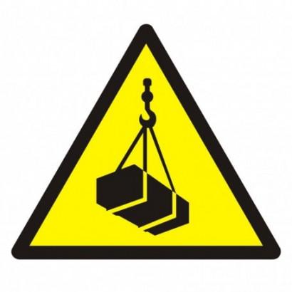 Ostrzeżenie przed wiszącym ciężarem (wiszącymi przedmiotami)