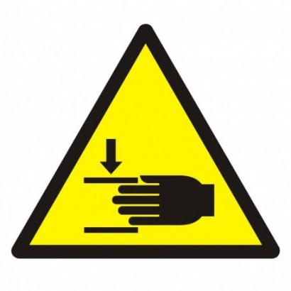 Ostrzeżenie przed zgnieceniem dłoni