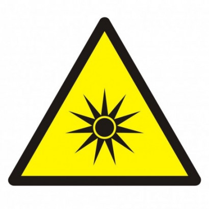 Ostrzeżenie przed promieniowaniem optycznym