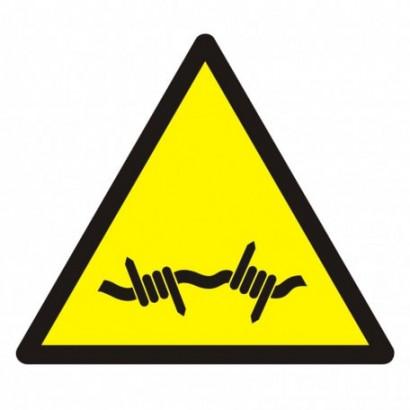 Ostrzeżenie przed drutem kolczastym