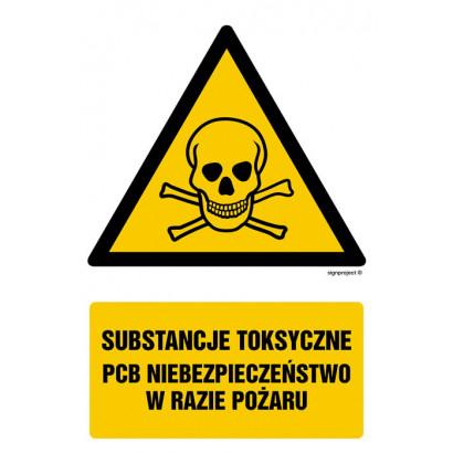 Substancje toksyczne. Niebezpieczeństwo w razie pożaru