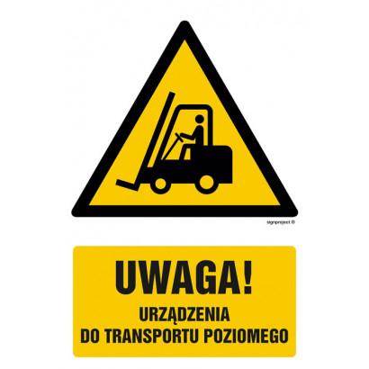 Uwaga - urządzenie do transportu poziomego