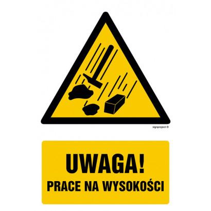 Uwaga - prace na wysokości