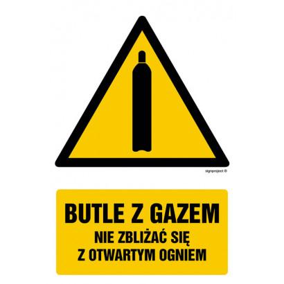 Butle z gazem - nie zbliżać się z otwartym ogniem